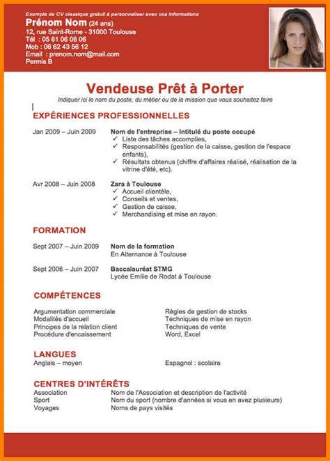 Lettre De Motivation Vendeuse En Pret A Porter Candidature Spontan E 2 cv vendeuse pret a porter cv vendeuse