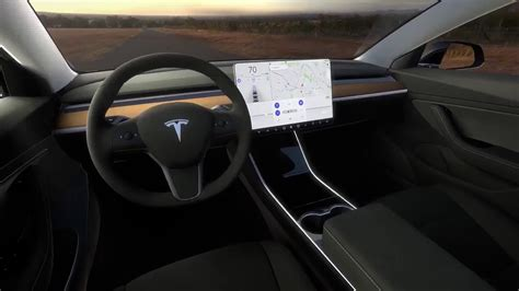 Tesla A Look Inside A Model 3 Interior