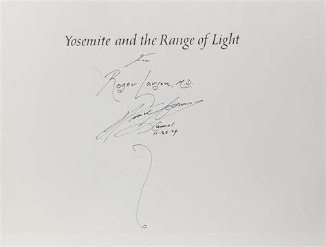 ansel adams yosemite and the range of light poster yosemite and the range of light first edition signed