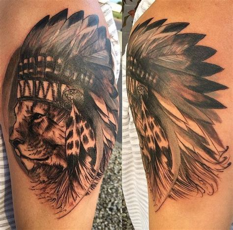 lion headdress tattoo david wick headdress jpg 594 215 588