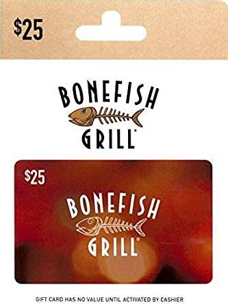 Bonefish Grill Gift Card Balance - amazon com bonefish grill gift card 25 gift cards