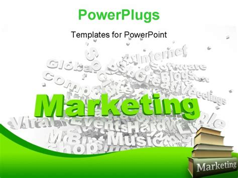 marketing powerpoint templates of marketing related words part of a series of