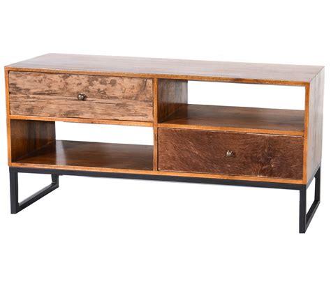 meuble tv peau de vache et bois recycl 233 6988