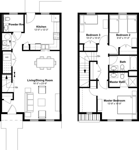 2 bedroom unit floor plans 3 bedroom 2 1 2 bath townhome emerson square
