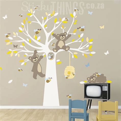 wall stickers south africa tatty teddy like tree wall sticker stickythings co za