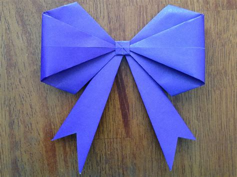 Origami Ribbon - origami bow make