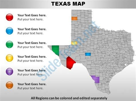 product map of texas usa texas state powerpoint maps