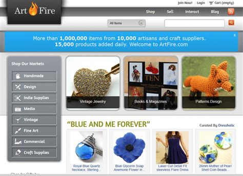 Website That Sells Handmade Items - artfire 7 websites to sell handmade goods on diy
