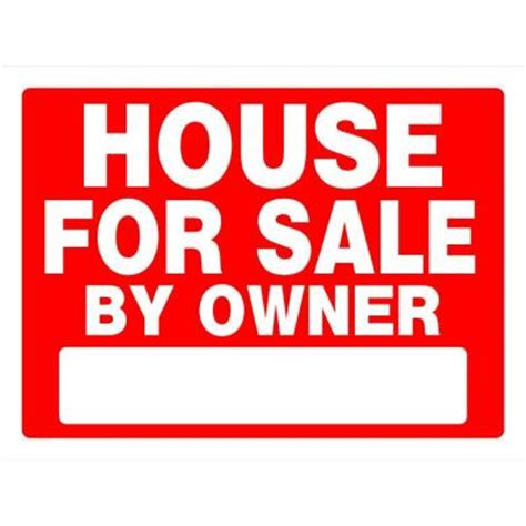open house signs home depot the hillman group 18 in x 24 in red and white plastic house for sale by owner sign