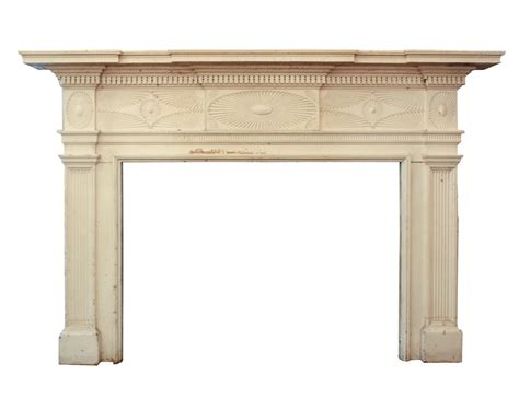large antique carved federal fireplace mantel 1823
