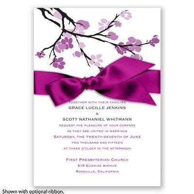 budding beauty sangria invitation cherry blossoms in