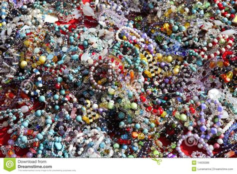 colorful jewelry colorful jewelry mess in market background royalty free
