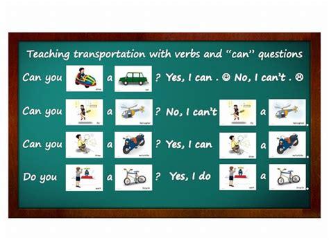 ferry verb flashcards teaching activities transportation yo yee