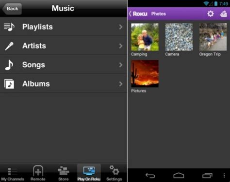 to roku from android roku s official ios and android remote apps add play on roku to and pics