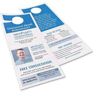 Avery Door Hanger Template by Avery Door Hanger With Tear Away Cards Ave16150
