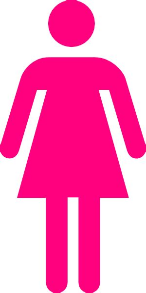 female bathroom symbol pink female clip art at clker com vector clip art online