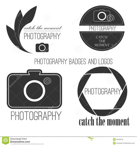 photography logos templates vector collection of photography logo templates stock