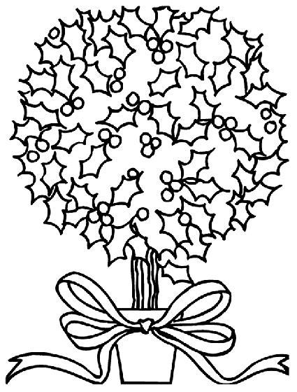 holly tree coloring page christmas holly bush coloring page crayola com