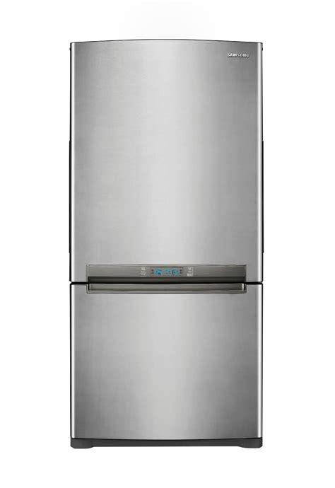 refrigerator with bottom freezer swing door samsung rb195acpn 18 cu ft bottom freezer w side