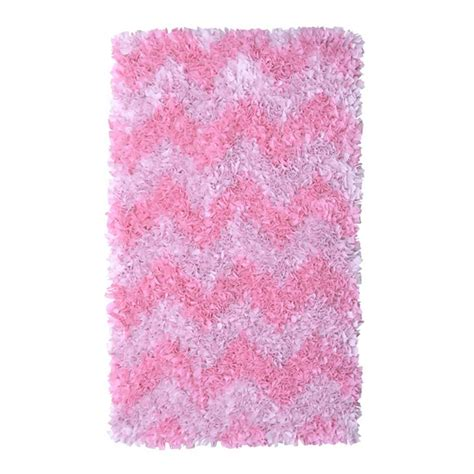 Shaggy Raggy Rug Pink Filament Design Shaggy Raggy Chevron Pink 2 Ft 7 In X 4