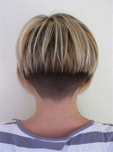 the difference in tapered and layered hair backview bob hair v tapered nape shaved bob
