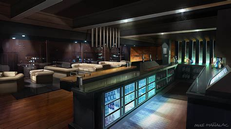 bar room lighting night rendering lighting rendering outsourcing services for games film