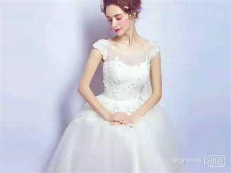 Hq 7859 Lace Dress 1 tea length white lace bridal dress