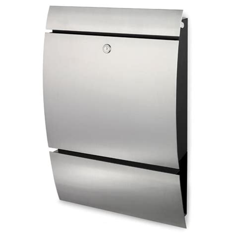 stainless steel mailbox blomus stainless steel wide wall mounted stainless