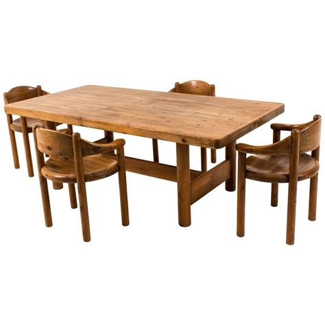and large mid century modern dining room table by