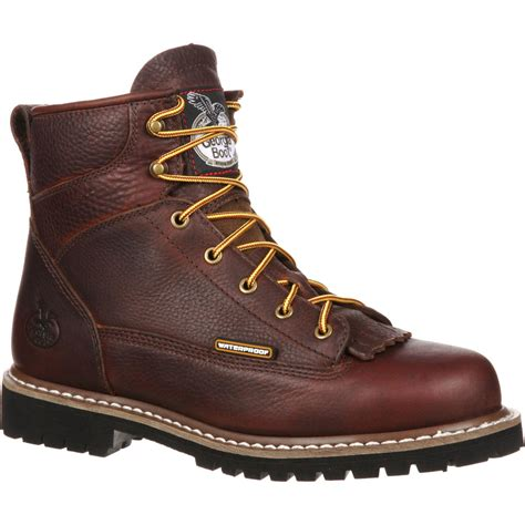 lace to toe boots steel toe waterproof lace to toe work boot gbot053