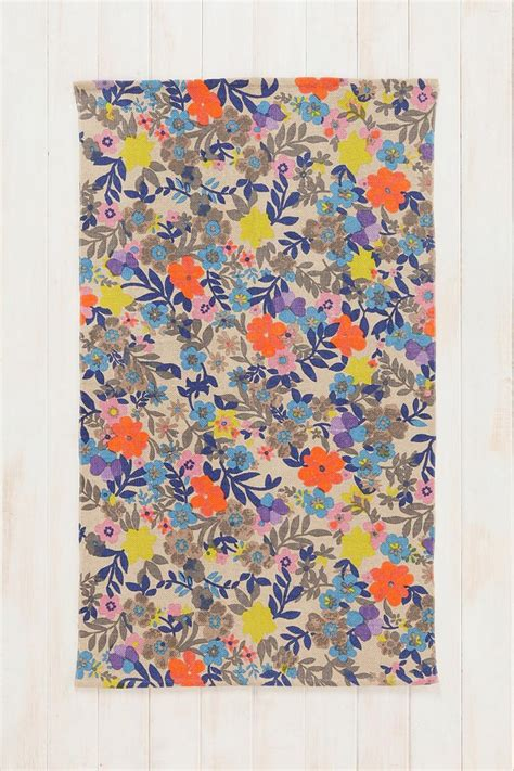 Outfitters Floral Rug by Plum Bow Meadow Handmade Rug Outfitters Kitchen