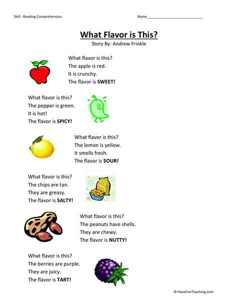 kindergarten reading comprehension worksheets 1000