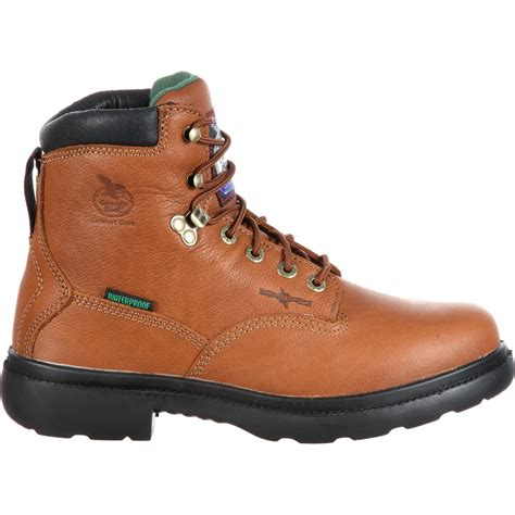 comfortable work boots georgia waterproof comfort core steel toe work boot g6603