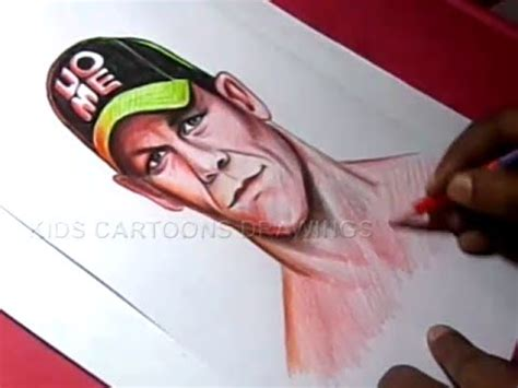 cena colors how to draw superstar cena color drawing