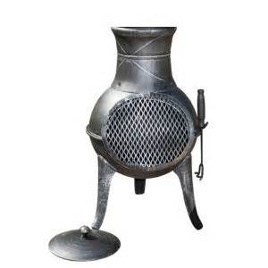 Chiminea B Q by La Hacienda Panama Cast Iron Steel Mix Chimenea