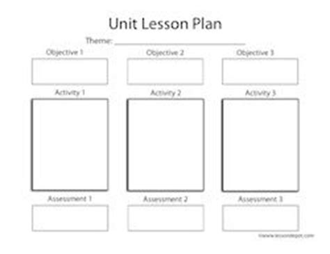 fourth grade unit lesson plan template school curriculum