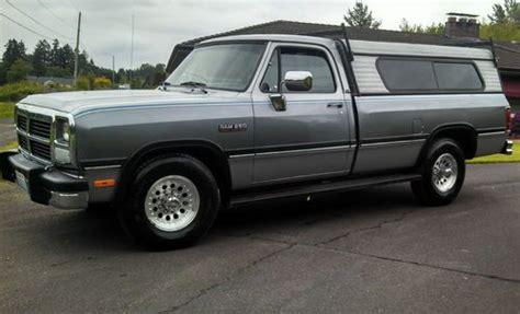 buy used 91 dodge ram le 250 cummins diesel 2wd 91 456
