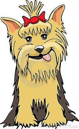 yorkie cartoon royalty  stock  image