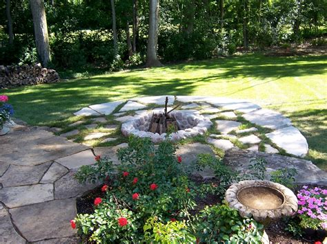 Flagstone Firepit Flagstone Pit Surround Fireplace Design Ideas