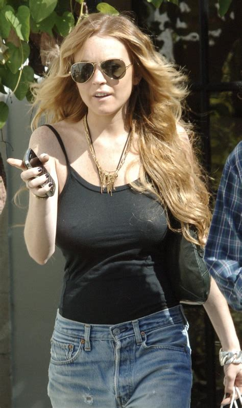 Lindsay Lohan Is Actually Wearing A Bra by Lindsay Lohan Lindsay Lohan Bra