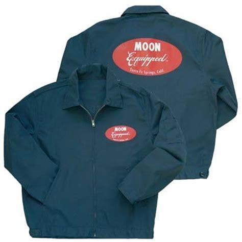 mooneyes charcoal gray mechanic jacket  red moon