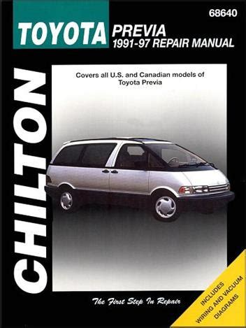 repair anti lock braking 1995 toyota previa user handbook toyota previa tarago 1991 1997 chilton owners service repair manual 0801990912