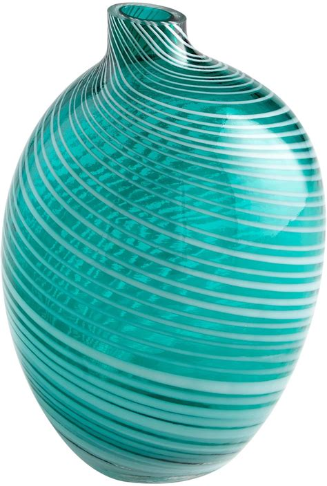 vase cyan design prague small teal glass new cy 2877 ebay