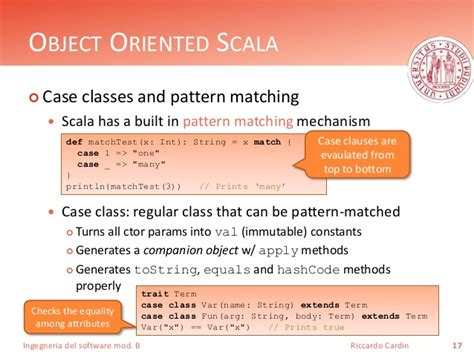 scala pattern matching unchecked a too short introduction to scala