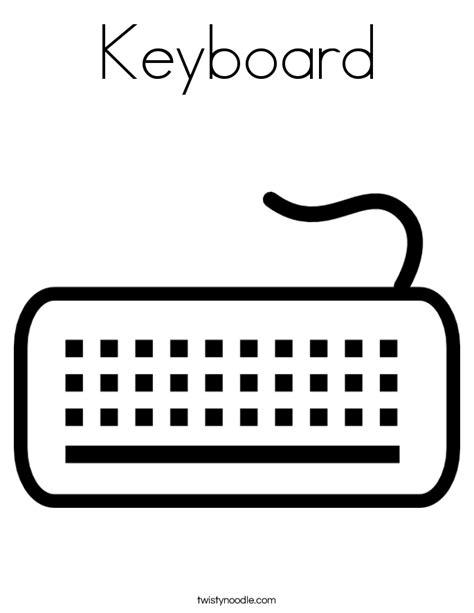 keyboard coloring pages keyboard coloring page twisty noodle