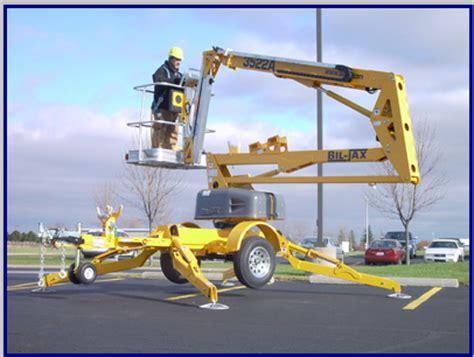 3522a bil jax aerial work platform information and lift chart.