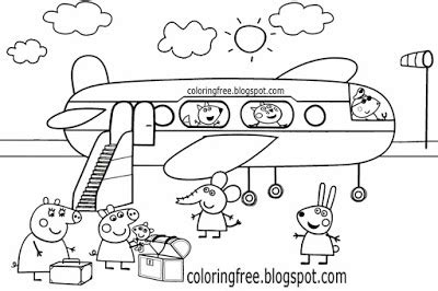 peppa pig at the beach coloring pages miss rabbit peppa pig coloring page sketch coloring page