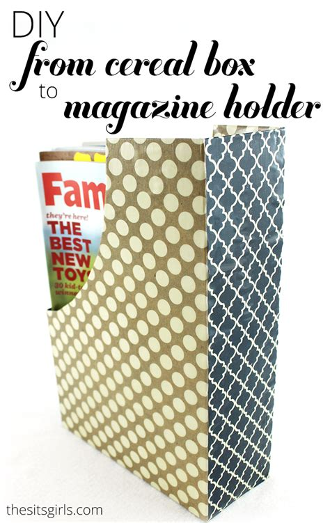 Bookshelf Made Out Of Books Diy Home Decor Magazine Holders Out Of Cereal Boxes