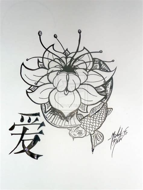 koi lotus tattoo designs koi fish and lotus design on paper tattooshunter