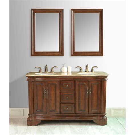58 double vanity stufurhome 58 quot moscone double vanity in walnut finish